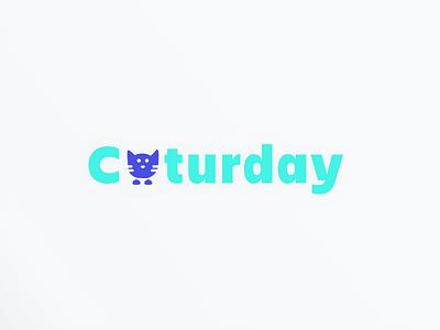 Caturday logo logo cat