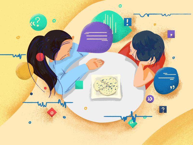 illustration design communication photoshop blue cheese illustraion