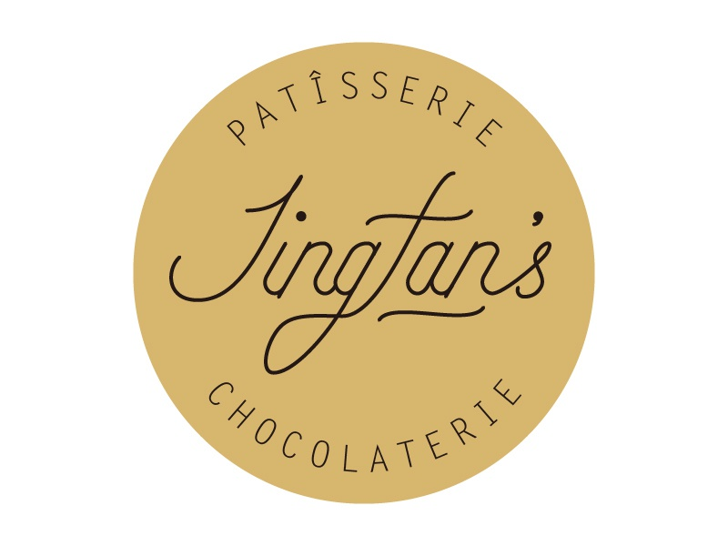 Logo | Jingfan's patisserie & chocolaterie round chocolaterie typography food patisserie illustrator lettering icon graphic design logo