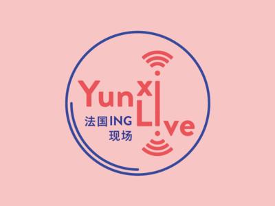 Logo | YunxiLive typography icon radio graphicdesgn logo