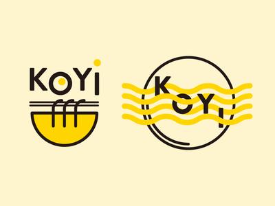 Koyi Logo research 1 icon logo graphic design noodle