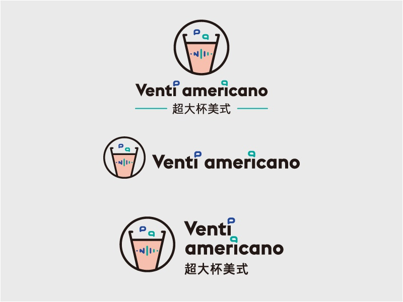 Logo   Venti americano coffee communication medical icon graphic design logo