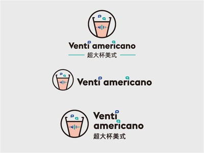 Logo | Venti americano coffee communication medical icon graphic design logo