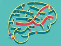 Illustration Brain-maze