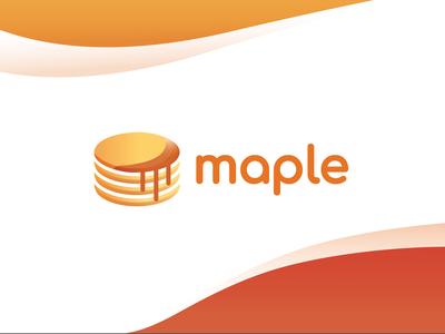 Maple Finances Logo colourful pancake icon gradient food modern logo security cryptocurrency finance design branding brand vector logo