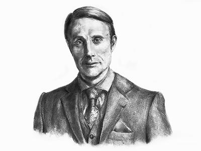 Hannibal Illustration 2 wip sketch pencil illustration drawing character