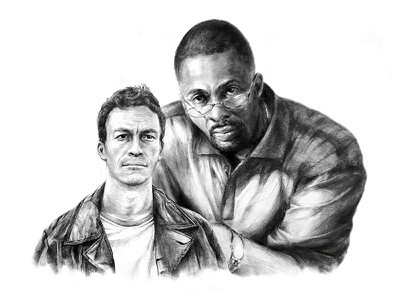 'The Wire' Illustration characters sketch television the wire photoshop drawing illustration