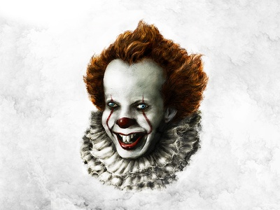 Pennywise Illustration 1 character colour horror brush photoshop digital art sketch drawing cool illustration