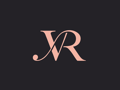 Virginia Rose Logo modern logo design r letter v letter logo design initials font design branding design design typography brand logo