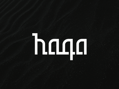 Haqa Clothing Logo design typography design branding monochrome letterform typography logo clothing logo logo design logo brand
