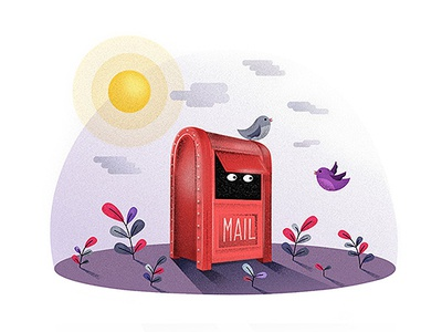 Flat Vector Illustration #3 bird art illustrator cc nature mail drawing design vector illustration