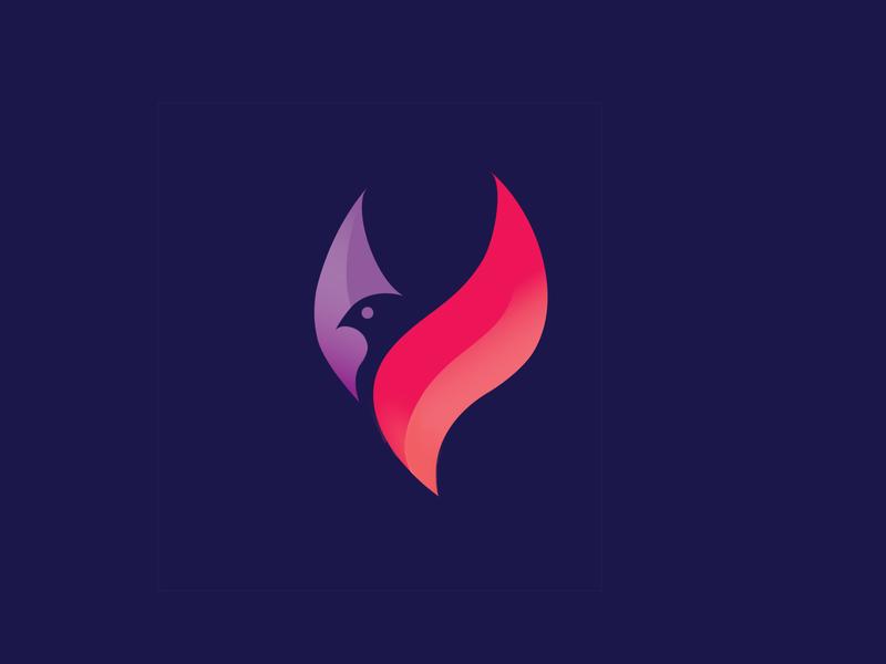 Bird Logo Concept #1 soul flame spirit logo design animal logo bird logo illustrator photoshop brand identity vector drawing design logo