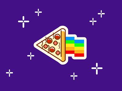 Nyan Pizza sticker colorful kawaii pizza kawaii pizza nyan pizza