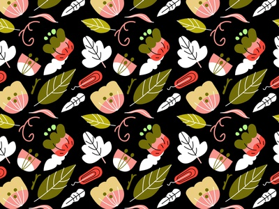Vector Floral Pattern Study