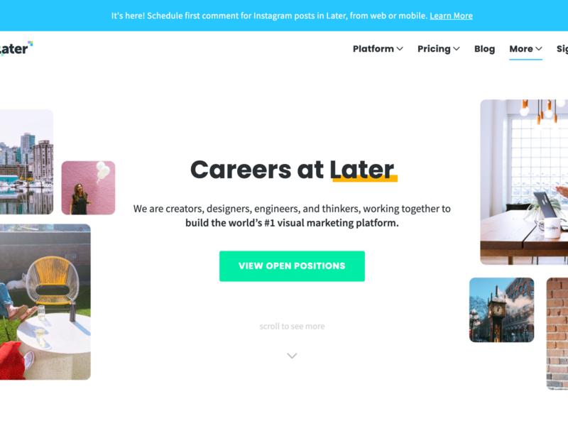 Careers page Redesign marketing site ui web design website