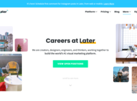 Careers page Redesign marketing site ui web design website