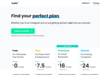 Pricing page Redesign lift optimization pricing table pricing