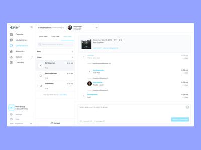 Later.com - Conversations UI