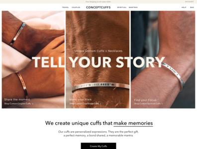 Concept Cuffs ui landingpage website webdesign design branding