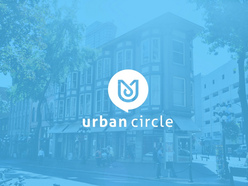 urban circle logotype mark logo digital branding