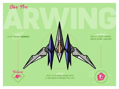 Arwing inktober spaceship arwing debut