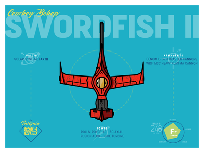 Cowboy Bebop : Swordfish Mk. II anime cowboy bebop swordfish spaceship