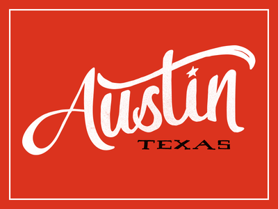 Austin Texas hand lettering texas type hand lettering