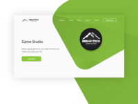Game Studio Landing Page Concept