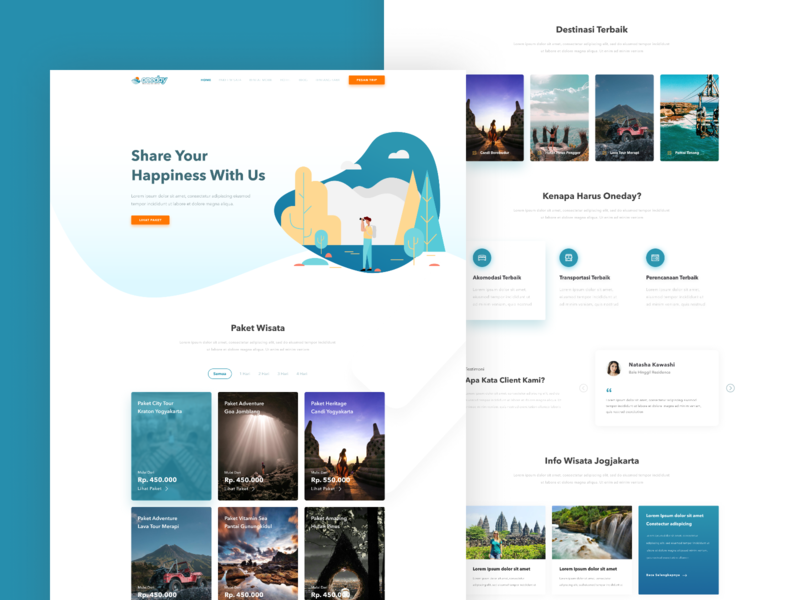 Travel Agency Website >> Oneday Tour And Travel Agency Website Design Concept By Adik
