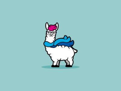 Hipster Llama No Drama