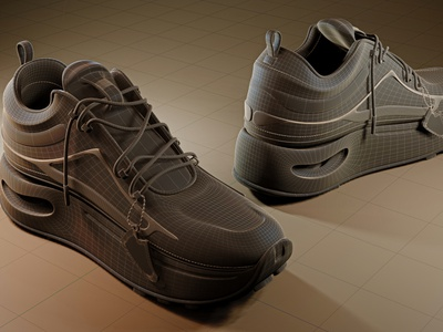 SHOES WIRE 3dblender render 3d cycles blender shoes