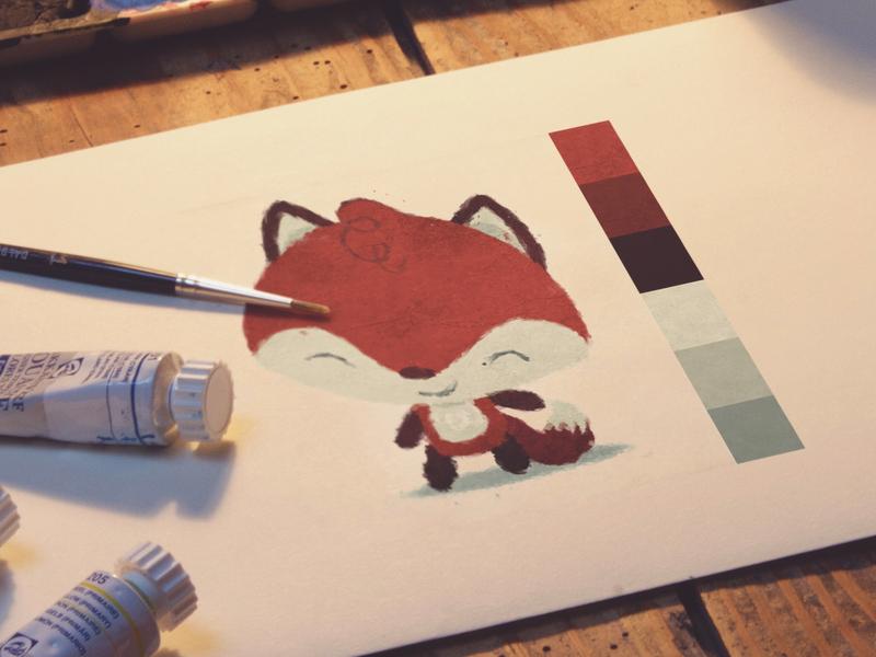 The Little Fox kawaii character animal illustration childrens book children fox