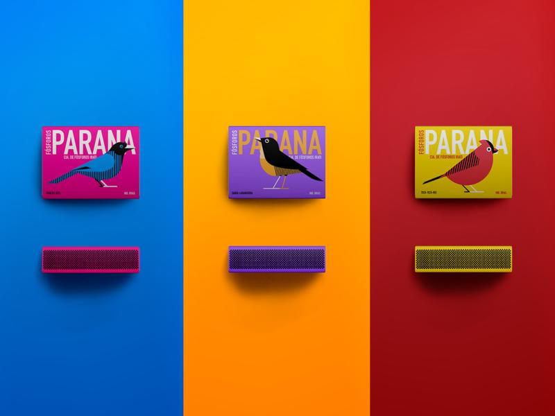 Paraná Matchbox minimalism vector box matchbox birds illustration packaging design