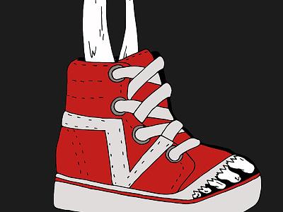 Creepy shoe skateboard shoes vector adobe illustrator