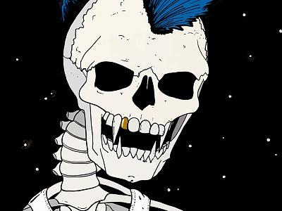 Skull Kid punk halloween skeleton adobe illustrator