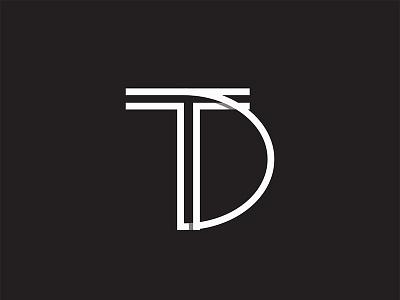 TD logo bw minimal graphicdesign logo
