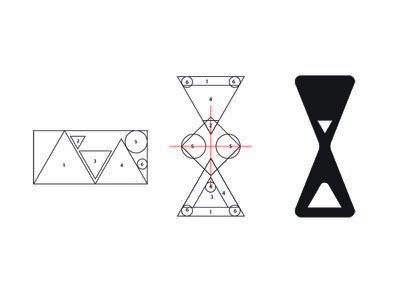 Hour glass logo logo process design hour glass logo design logo adobe illustrator logo
