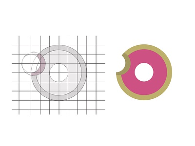 Doughnut Logo simple logo simple design vector logo adobe illustrator branding doughnut brand doughnut logo logo design