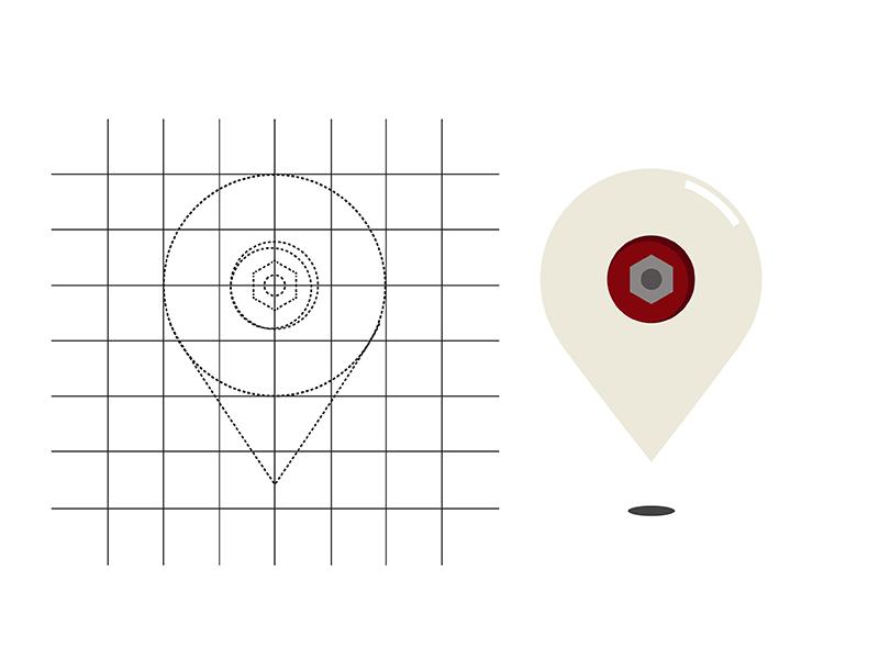 Skate wheel drop pin by Trent Davis | Dribbble | Dribbble on