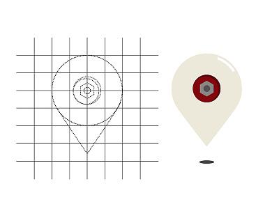 Skate wheel drop pin skate wheel drop pin skate wheel skate spot app skateboarding skateboard app maps app illustrator google maps drop pin maps adobe