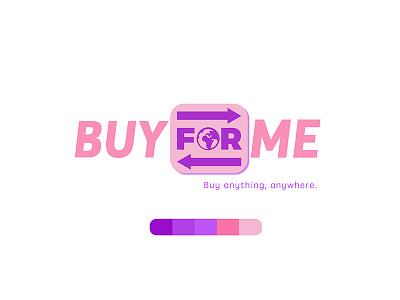 BuyForMe Logo fun logos logo contest buy for me logo pink purple indigo logo illustrator graphic design illustrator adobe illustrator