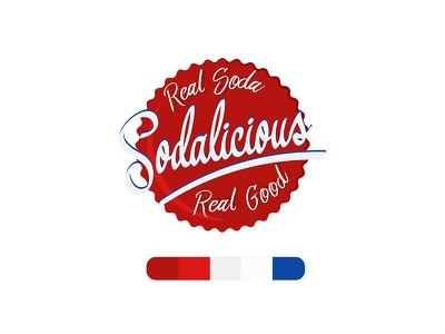 Sodalicious! soda logo fun logos logo contest red logo blue white red logo illustrator graphic design illustrator adobe illustrator
