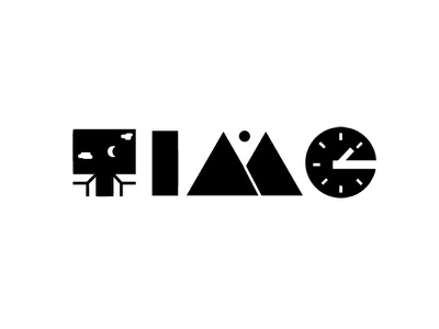 TIME wordplay logo process design time logo design logo adobe illustrator logo