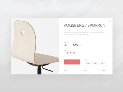 Furniture card shop flat ux ui minimalistic furniture