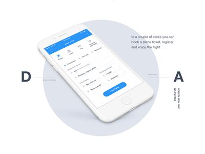 Shot Air delta deltaairlines minimalistic airlines iphone flat ios app design