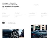 Audi A7 Sportback design app ux ui minimalistic flat