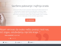 WIP / Flat web design