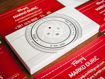 Photography business card design - Just printed! :)