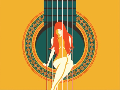 The Muse after hours muse music guitar screenprint woman poster