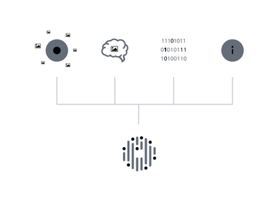 Cognetivity logo concept information data eye test dementia diagram concept branding logo brand